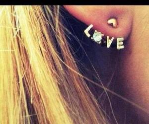 earring and love image
