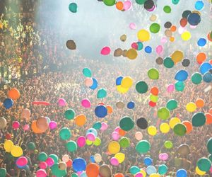 ballons, orange, and party image