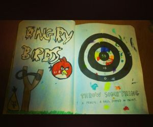 wreck this journal, angry birds, and throw something image