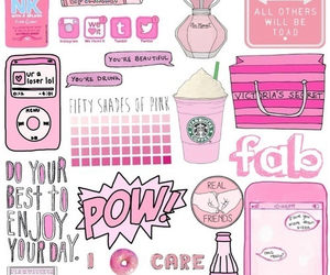 pink, starbucks, and pow image