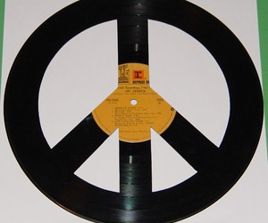 peace, record, and vinyl image