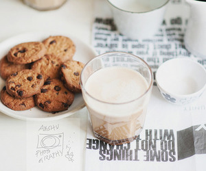 food, Cookies, and milk image