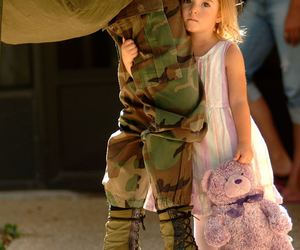 child, sad, and army image