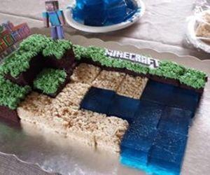 cake and minecraft image