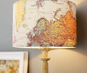 map and lamp image