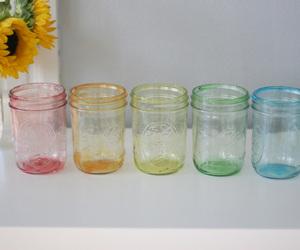 diy, jar, and tinted image