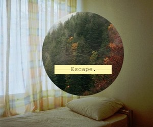 escape, bed, and vintage image