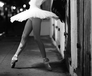 ballet, blach and white, and dance image