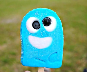 blue, ice cream, and food image