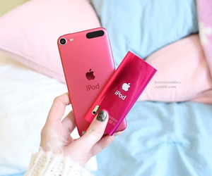 apple, ipod, and pink image