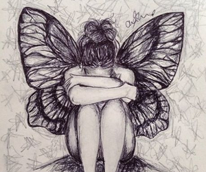 butterfly, love, and drawing image