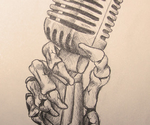 drawing and microphone image