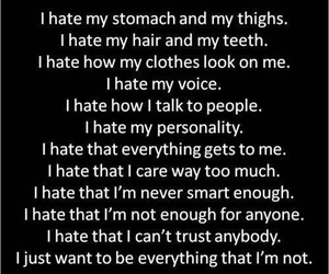hate, im sorry, and quotes image