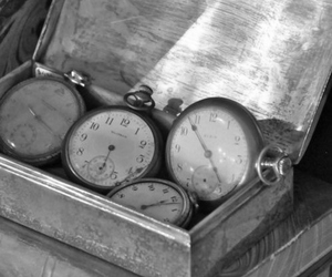 book, clock, and vintage image