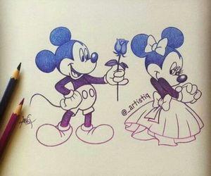 drawing, disney, and mickey image