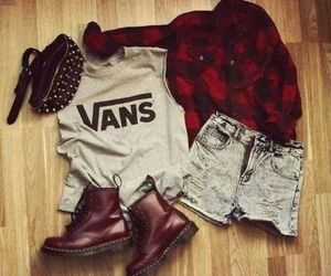 girls, vans, and jeans image