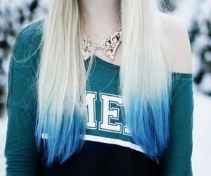 hair, blue, and blonde image