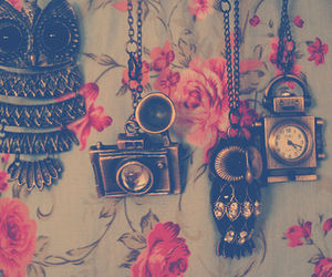owl, camera, and necklace image