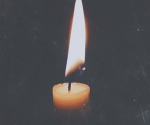 candle, fire, and light image