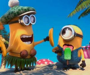minions, banana, and despicable me image