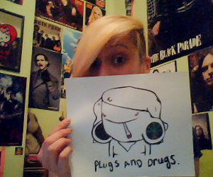 drugs, hello kitty, and Plugs image