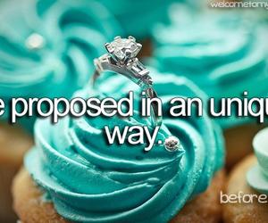 propose, ring, and cupcake image