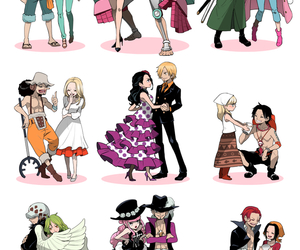 one piece, anime, and couple image