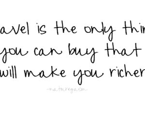 quote, rich, and travel image