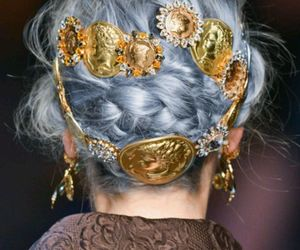 hair, model, and gold image