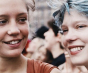 blue is the warmest color, adele exarchopoulos, and Lea Seydoux image