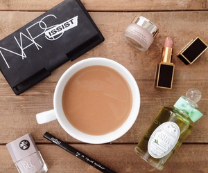 beauty, coffee, and nars image