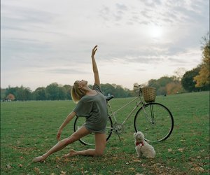 dog, ballet, and dance image
