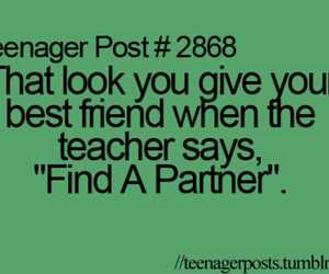 teenager post, partner, and teacher image