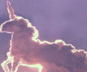 unicorn, patrick, and clouds image