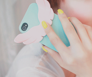 kawaii, phone, and blue image