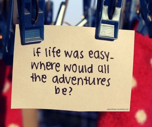 life, adventure, and quote image