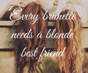 best friend, blonde, and hair image