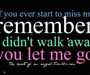 away, miss, and remember image