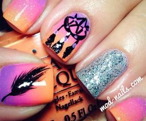 nails, dreamcatcher, and pink image