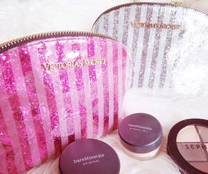 pink, Victoria's Secret, and make up image