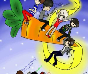 cartoon and one direction image