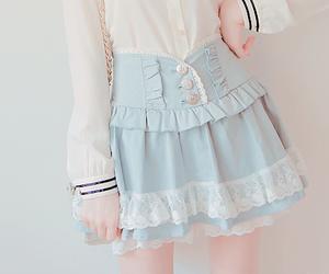 fashion, pastel, and skirt image