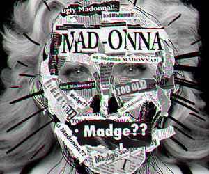 american life, nobody knows me, and madonna image