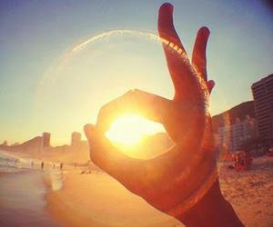 beach, sun, and sunlight image