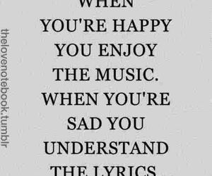music, quotes, and sad image