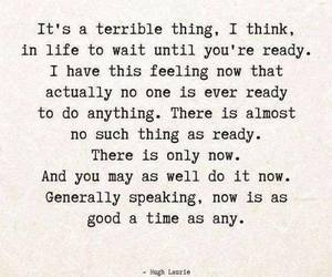 quote, ready, and now image
