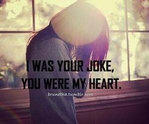 girl, heart, and joke image