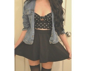 skirt, outfit, and hair image