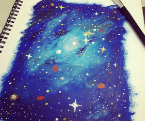 galaxy, paintings, and stars image