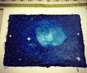 galaxy, paintings, and space image